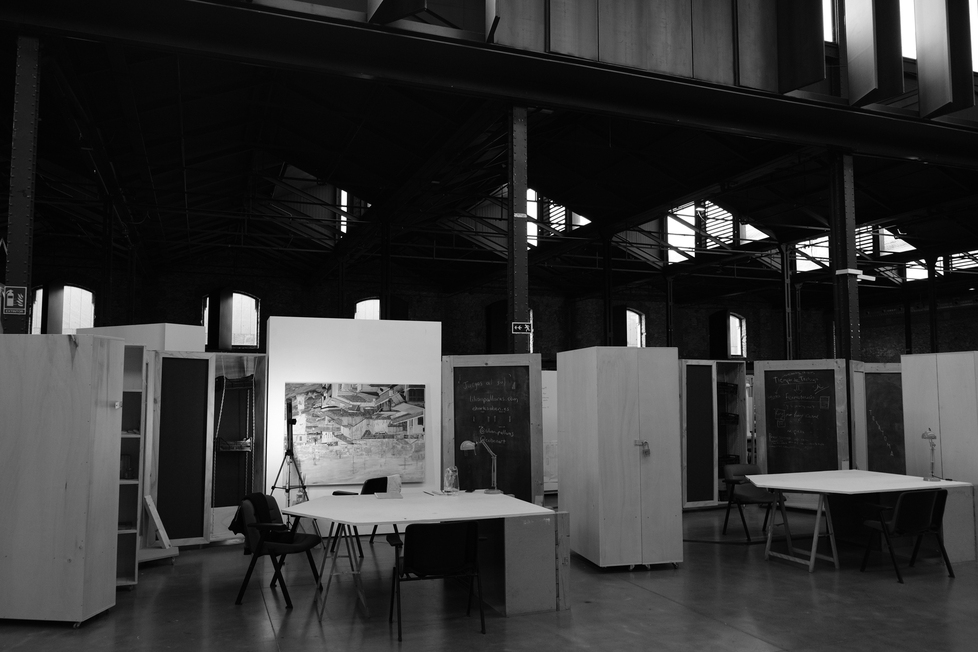 Studio in Centre for Artists in Residence, Matader Madrid