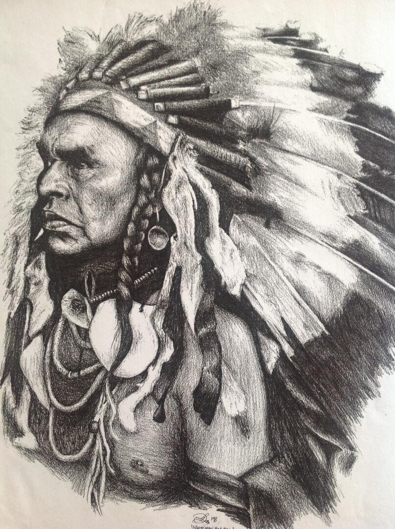Native American Indian Pencil Portrait | Showcase | The Big Idea