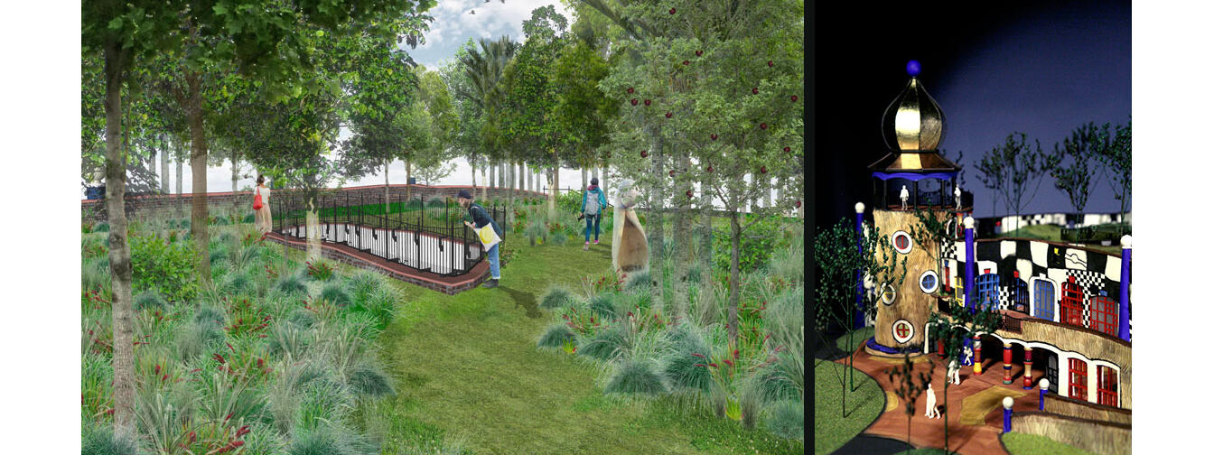 Design for Hundertwasser Centre Whangarei