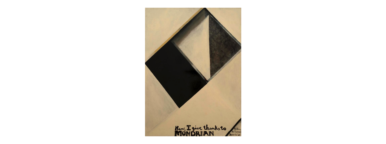 Colin McCahon: Here I Give Thanks To Mondrian, 1961. Photo source: Auckland Art Gallery