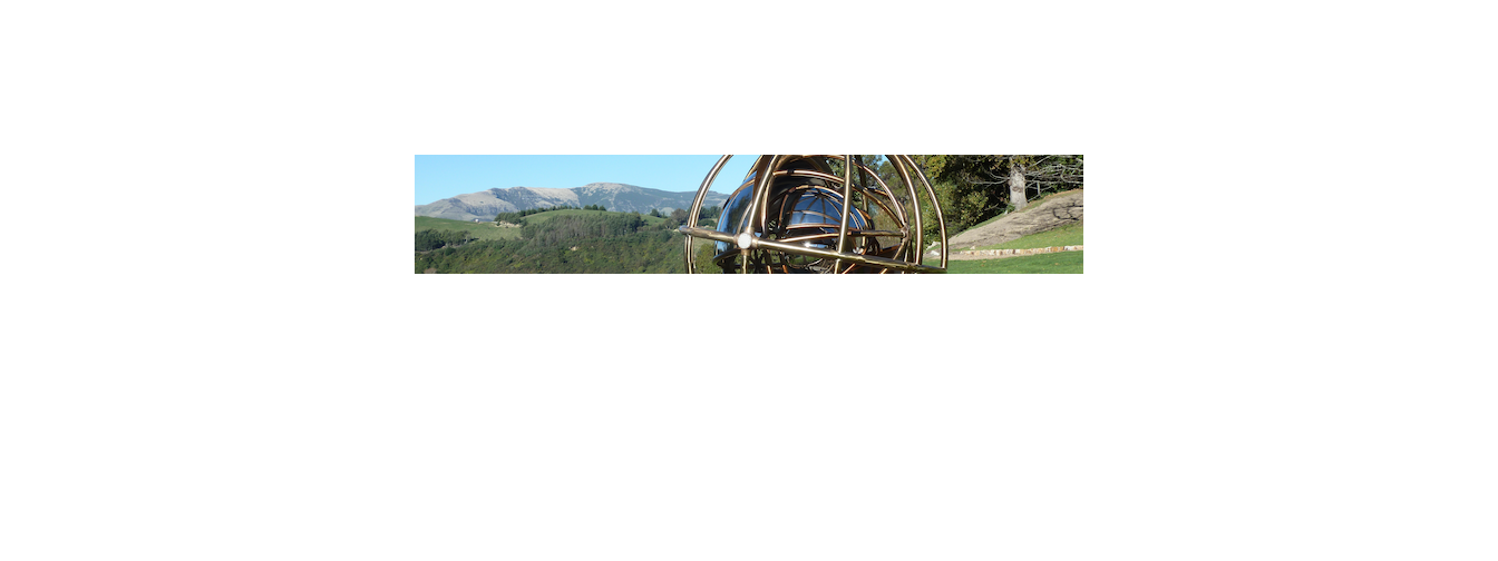 Andrew Drummond with his work Armillary, 2016. Photo courtesy of Andrew Drummond.