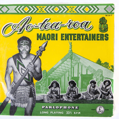 Gramophone Record Album, Aotearoa Maori Entertainers, 1956, Parlophone Records Ltd, vinyl, paper, plastic.