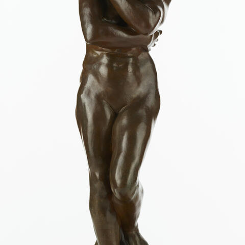 Auguste Rodin, Eve, Bronze 1882. Te Papa (1959-0029-1) purchased 1959 with Lindsay Buick Bequest funds