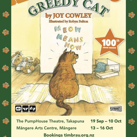 Greedy Cat by Joy Cowley show poster