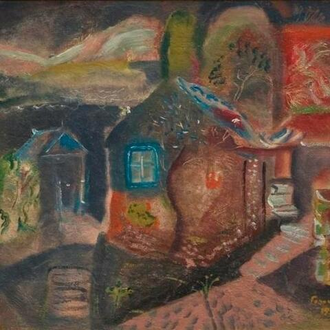 "Frances Hodgkins ""The Courtyard in Wartime"" (1944) University of Auckland Art Collection"