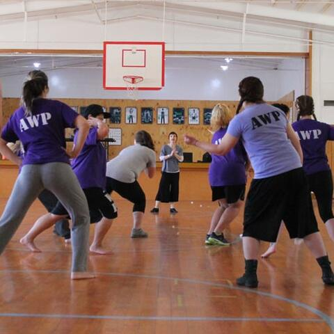 Women in Arohata Prison take part in a RNZB workshop