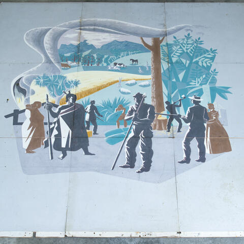The rediscovered Wairoa Centennial Library mural