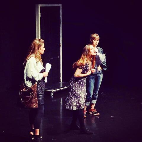Sara Georgie, Shannon Colbert and Rosella Hart in 'Lavvies', a one-act play by Ruth Carraway