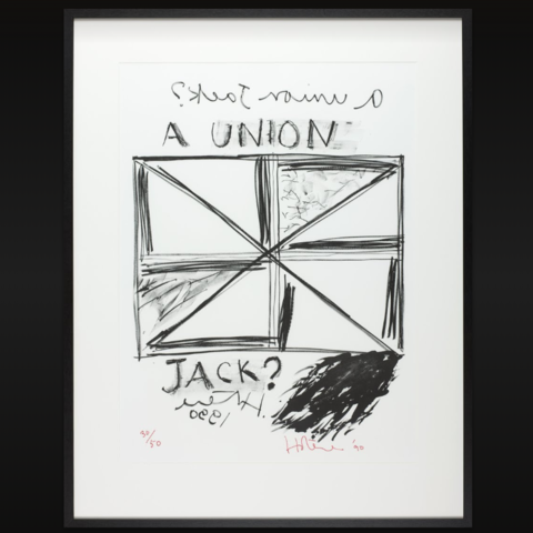 A Union Jack? by Ralph Hotere, Wellington City Council Art Collection