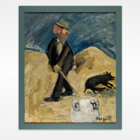 MacKenzie the Sheep Stealer by Trevor Moffitt, Wellington City Council Art Collection