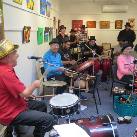 Andreas Lepper and musicians from MIX creative space in Hutt City