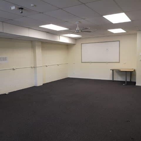 One of the rooms prior to fit out
