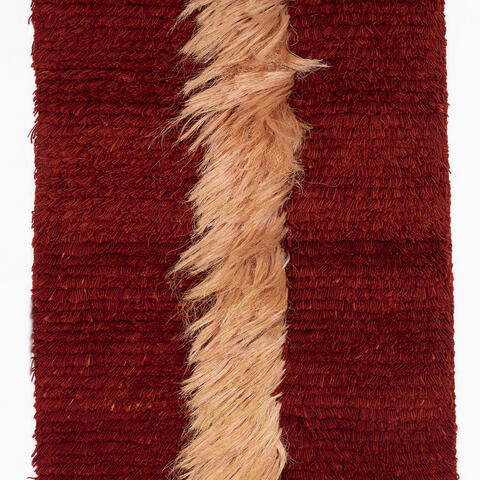 Zena Abbott, Fibre Fall No. 1, wool, sisal, date unknown, 1530 x 900mm, Collection of The Dowse Art Museum, gifted by the Abbott Family 2018.