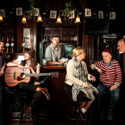 Cast of Four Nights In The Green Barrow Pub, Image by Roc+ Photography