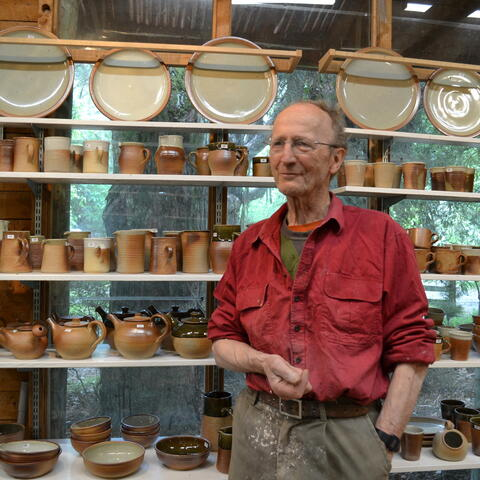Paul Melser in his studio