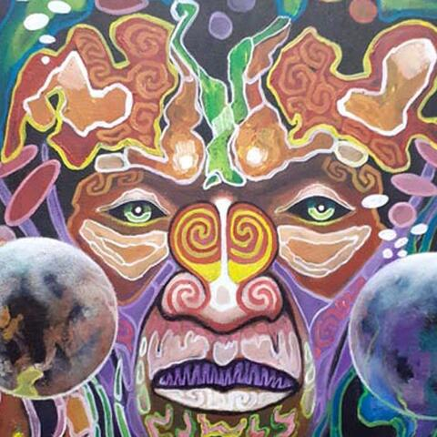 A painting by one of the members of the Redemption Arts whanau