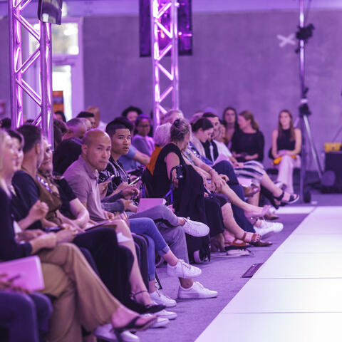 The expectant audience around the catwalk at Pitch