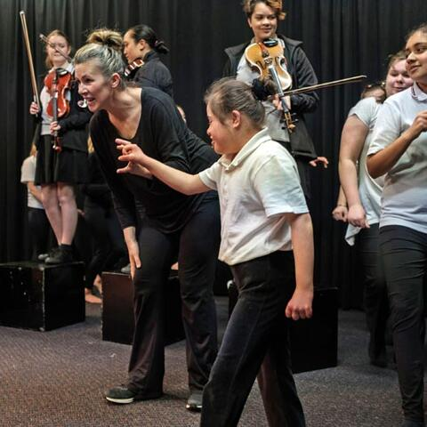 Gisborne Girls' High School students took part in a dance and music residency, led by Jolt and Christchurch Symphony Orchestra in partnership with the Gisborne International Music Competition
