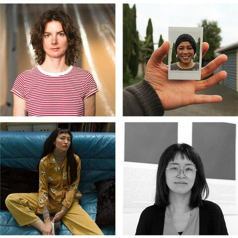 Meet the artists of SCAPE Season 2021. Including (L-R, Top to Bottom) Kate Newby, Janet Lilo, Nabuqi, and Bona Park. Images courtesy of the artists & SCAPE Public Art.
