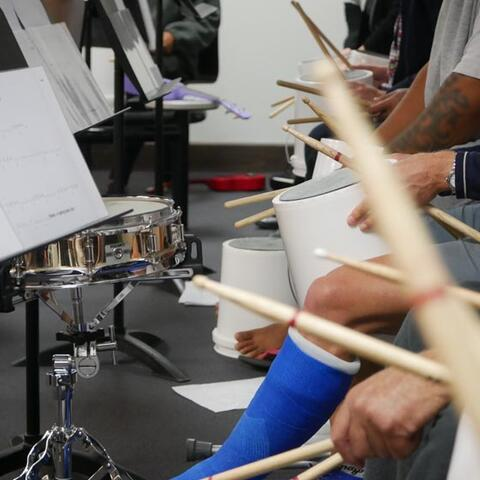 Christchurch Symphony Orchestra's music workshop in the Navigate Unit