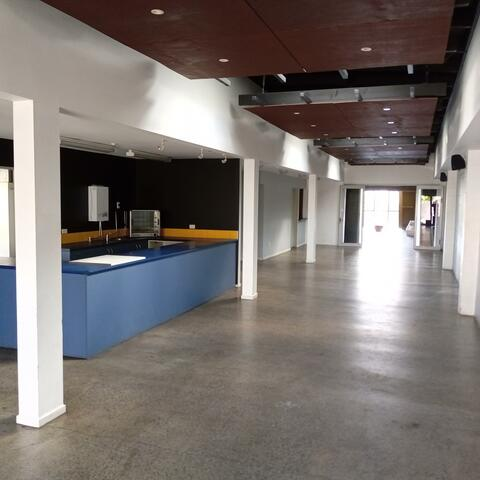 The foyer, cafe and gallery