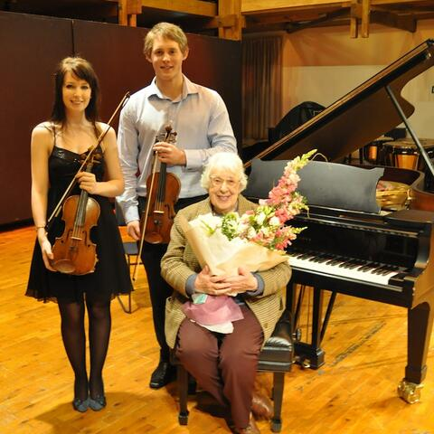 Violinists with Clare Galambos Winter
