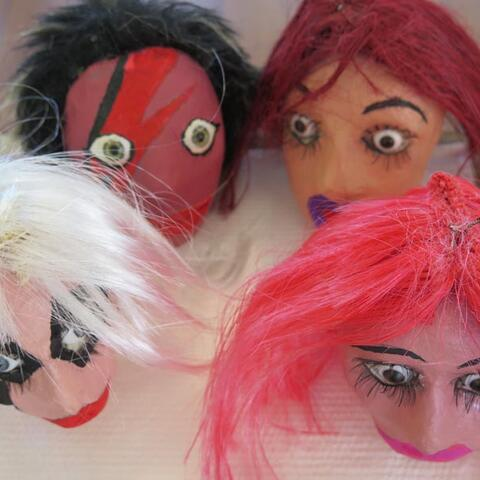 Making puppets is a current focus for Graham Lalor