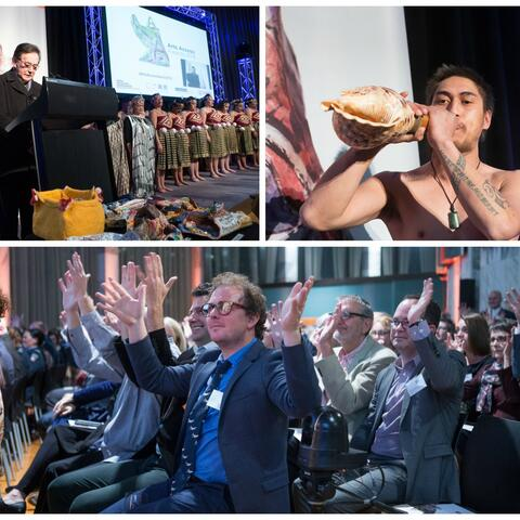 A collage of images from the Arts Access Awards 2016