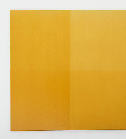 Fulbright-Wallace Arts Trust Award - Simon Morris, A Whole and Two Halves (yellow Ochre), 2016, Acrylic on canvas, 1400 x 1400