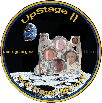 Collectable badge for the 11:11:11 UpStage Festival