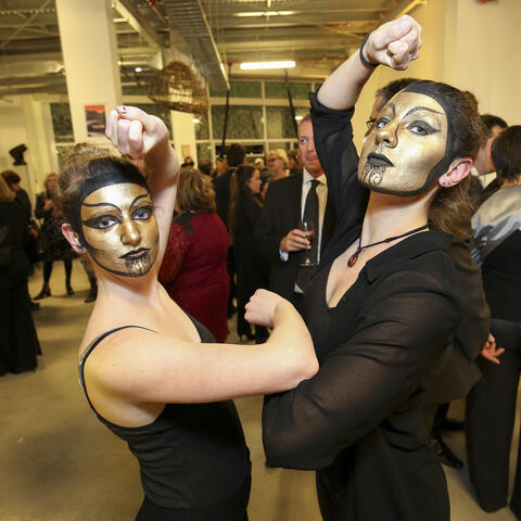 Whitireia Performing Arts Students at the Launch of Te Auaha New Zealand Institute of Applied Creativity