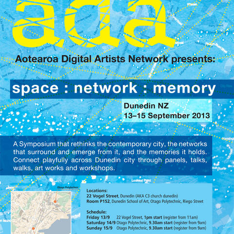 Aotearoa Digital Arts (ADA) Network - Space : Network : Memory poster