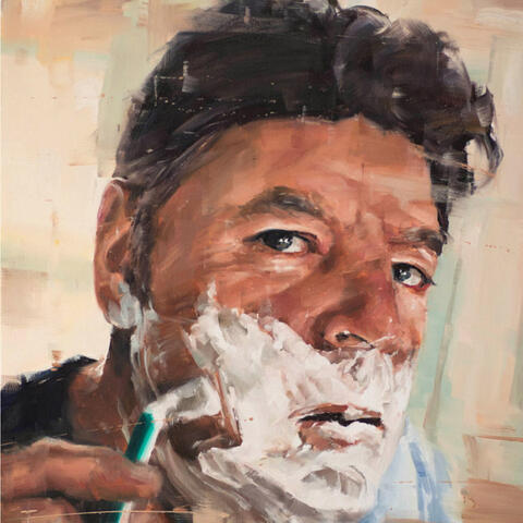 Stephen Allwood 'Self-portrait' Oil on canvas. 910 x 910 mm