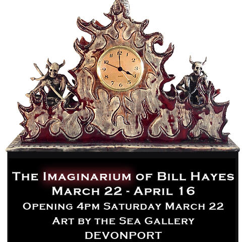 bill hayes nz ceramics and pottery, unusual clocks and vases,