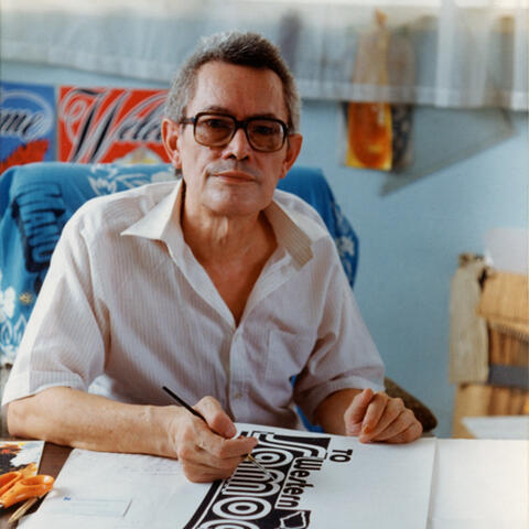 Joseph Churchward in his studio, Apia, Samoa. photographer unknown. c. 1994.jp