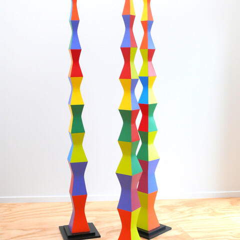 The Brancusi Poles by Michael Smither