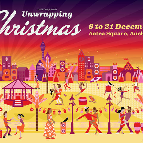 Unwrapping Christmas in Aotea Square