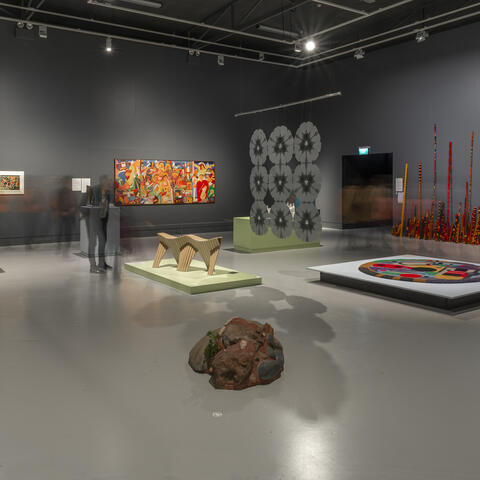 Can't Be Together (install view) at The Dowse, 2020. Photo: Shaun Matthews