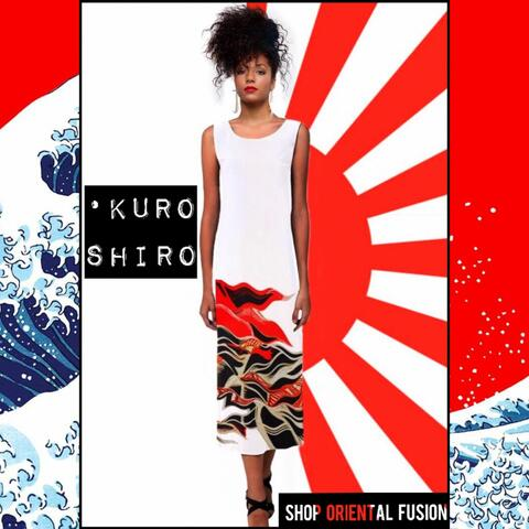 Kuro Shiro | Oriental Fusion Sleeveless Open Fork Long Dress Regular price