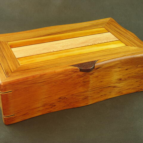 Rimu Jewellery Box with sculpted sides