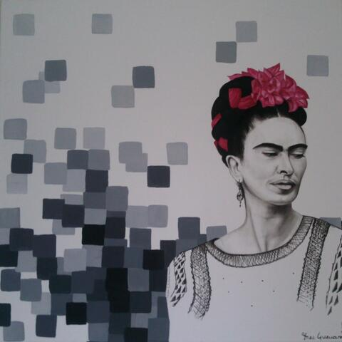 """""""Frida II"""",Acrylic. series: Pixellated Mexico.SOLD"""
