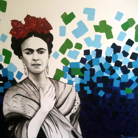 """""""La Frida"""",  Acrylic. From the series: Pixellated Mexico. Sold."""
