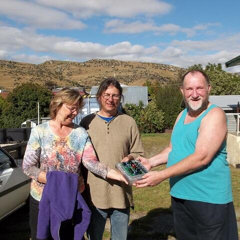 Final Prototype, Power Amp Module (with Them 2 and ME) in Roxburgh, NZ