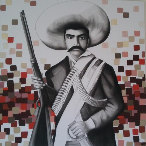 """""""Revolution"""" Acrylic. series: Pixellated Mexico. SOLD"""