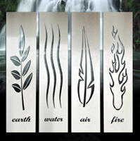 elements stainless steel wall art by lisasarah showcase. Black Bedroom Furniture Sets. Home Design Ideas