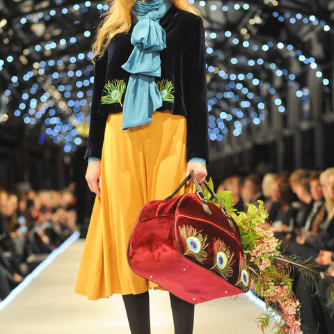 Tamsin Cooper Winter 12 - Peacock Jacket & Travel Bag