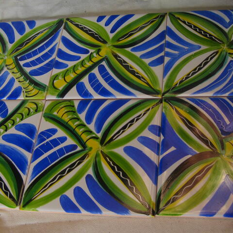 Hand painted 150mmx150mm ceramic tiles. $15.00 each
