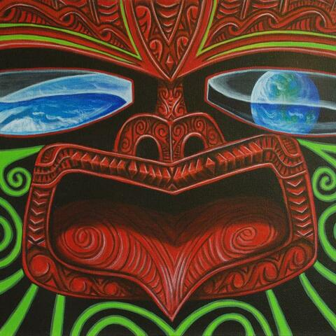 Acrylic on canvas painting by Maori artist Bruce Maxwell