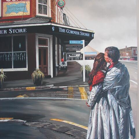 The Kiss by Michael Rowland (acrylic on canvas) 840 x 1220