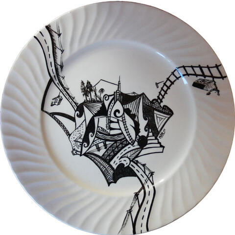 Recent Art Work on Plates at Letham Gallery